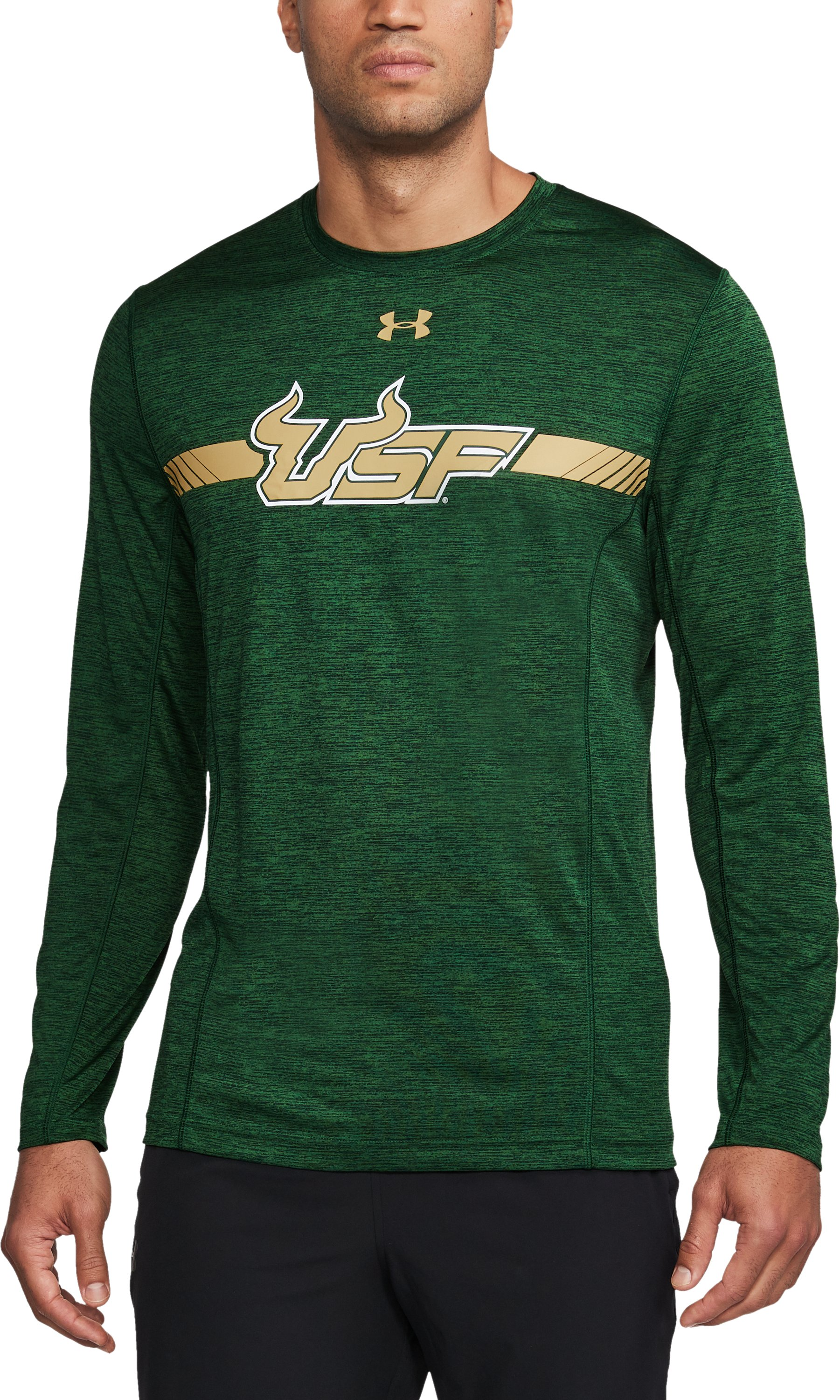 Men's South Florida Long Sleeve Training T-Shirt, Forest Green