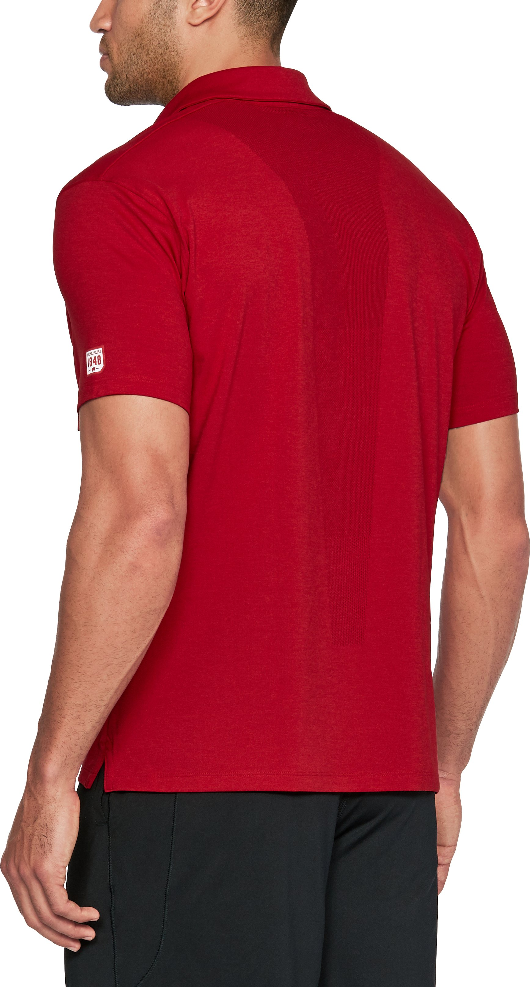 Men's Wisconsin UA Tour Polo, Flawless,