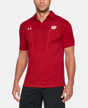 Men's Wisconsin UA Tour Polo  1  Color Available $84.99