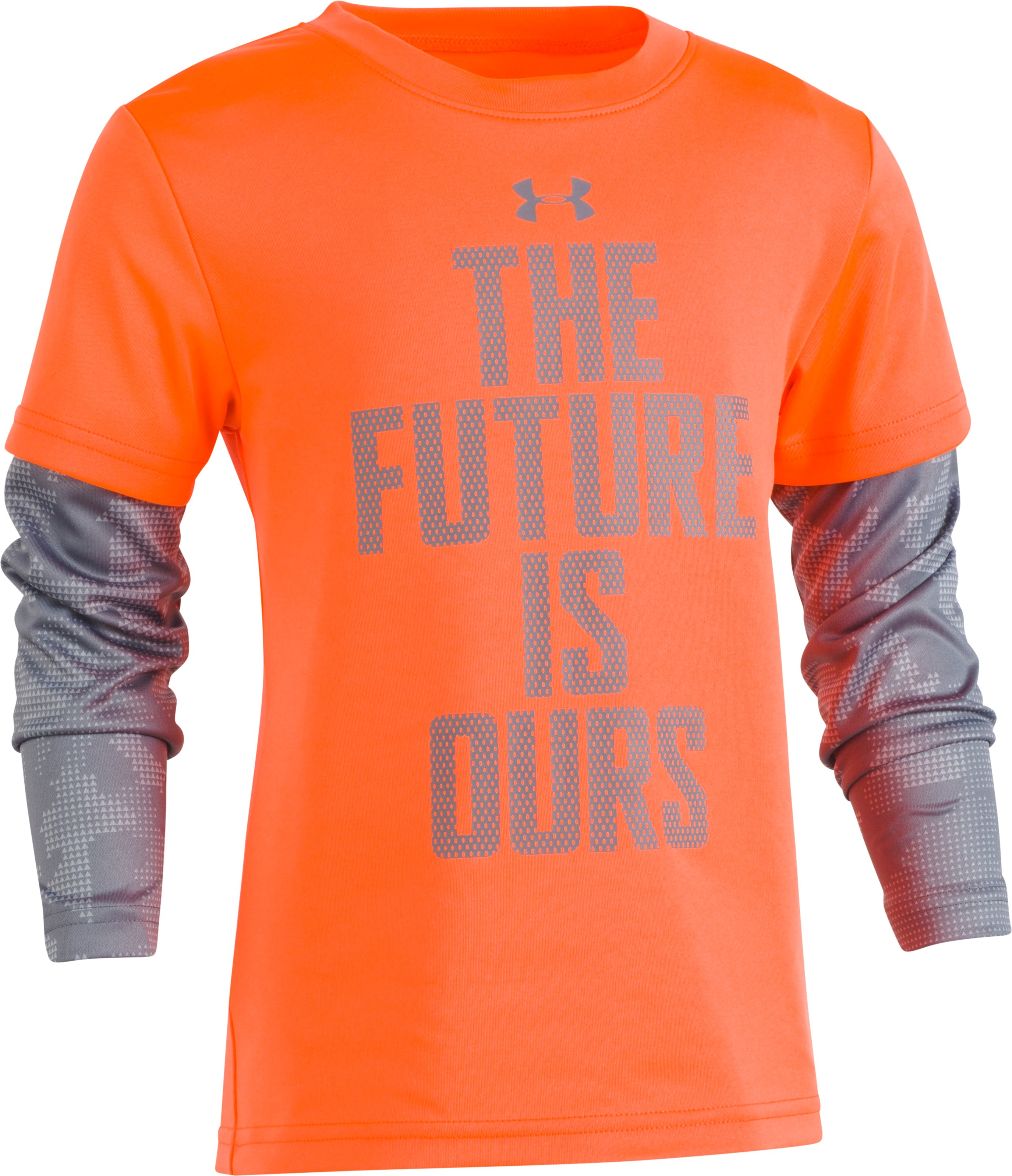 Boys' Toddler UA The Future Is Ours Slider, MAGMA ORANGE, Laydown