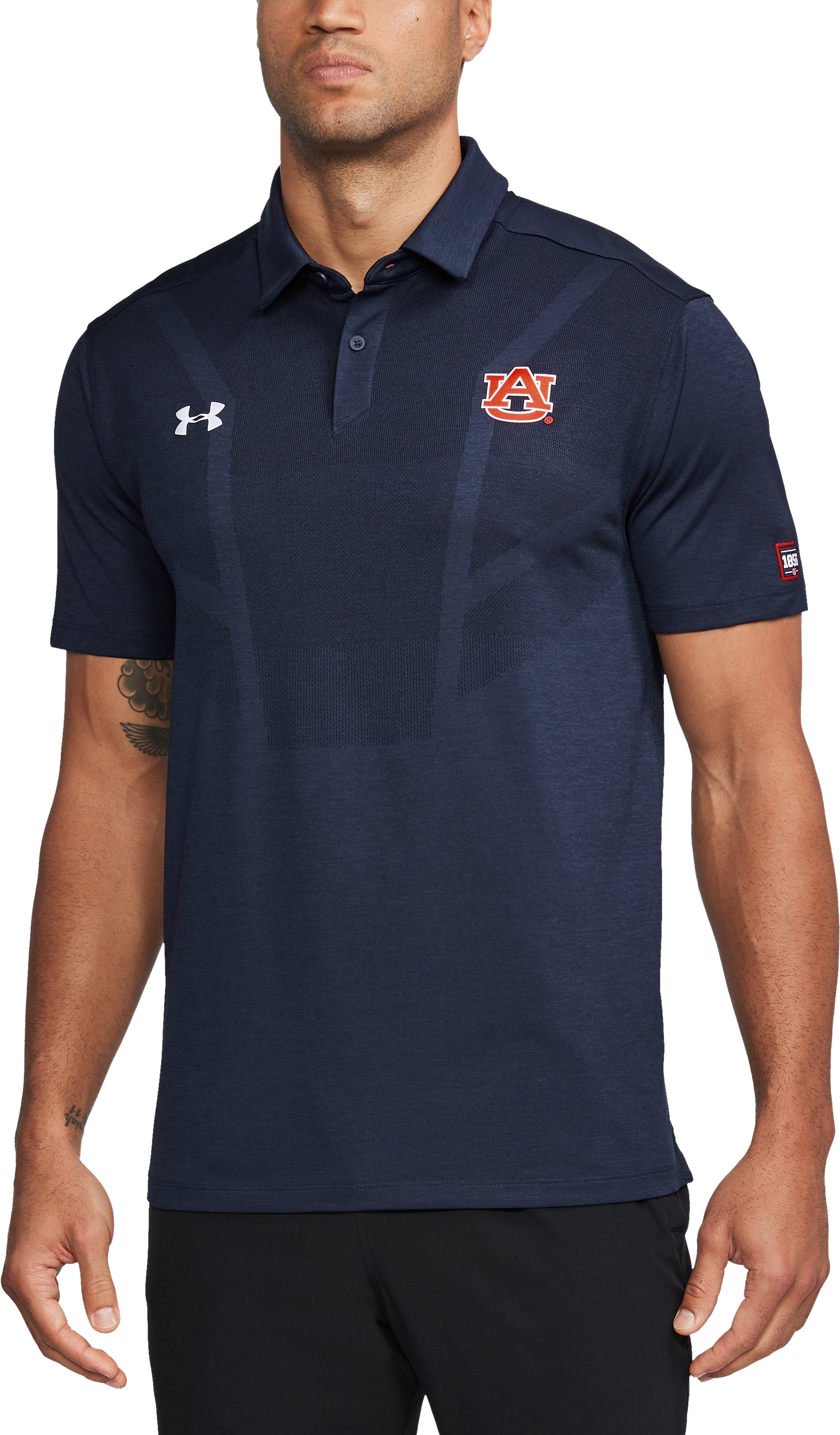Men's Auburn UA Tour Polo, Midnight Navy,