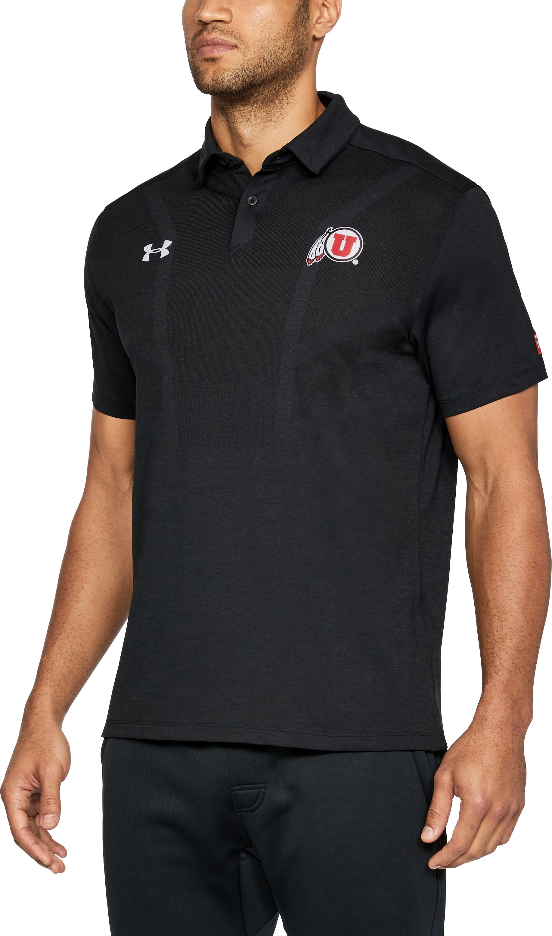 Men's Utah UA Tour Polo, Black