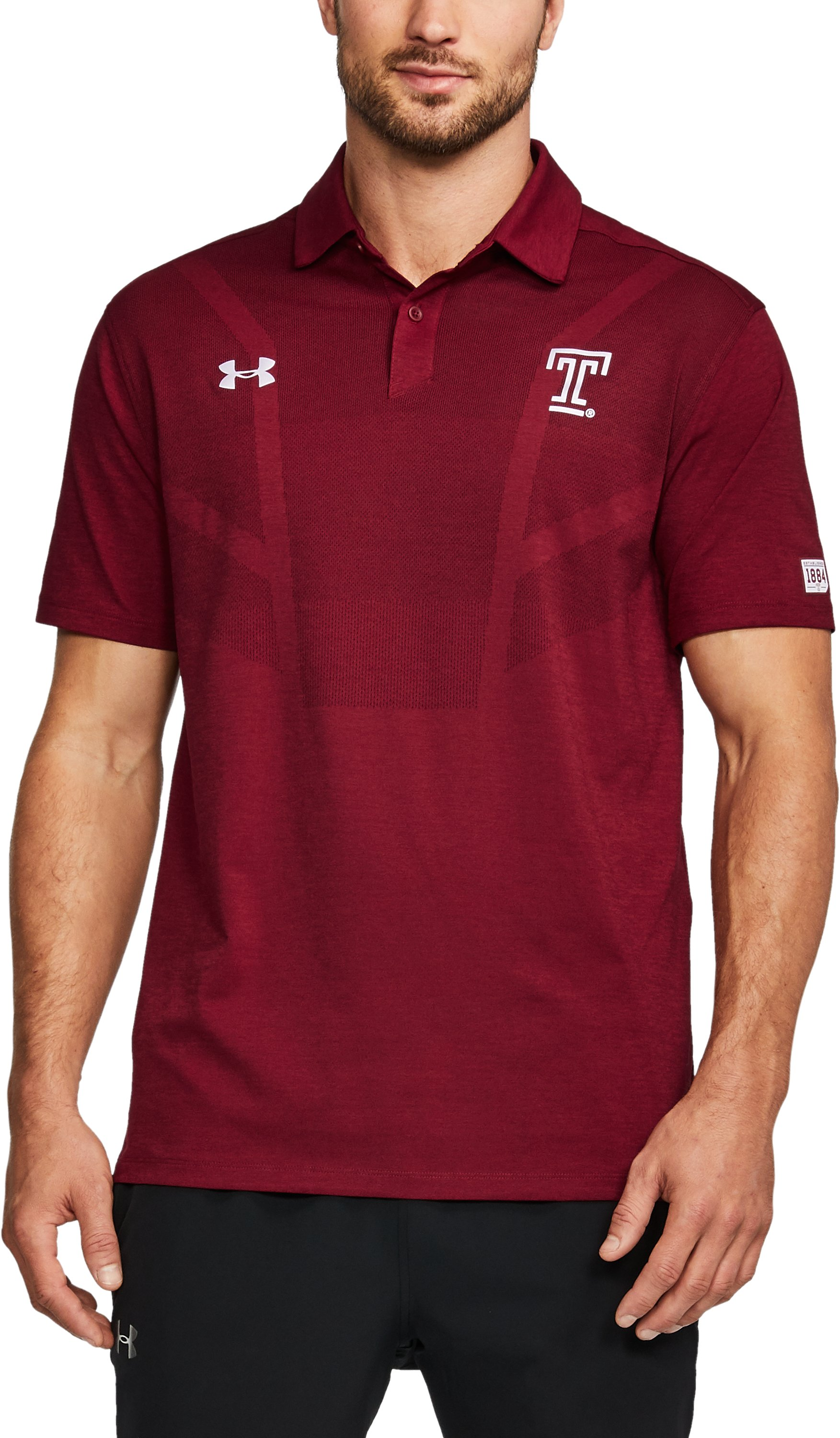Men's Temple UA Tour Polo, Cardinal, undefined