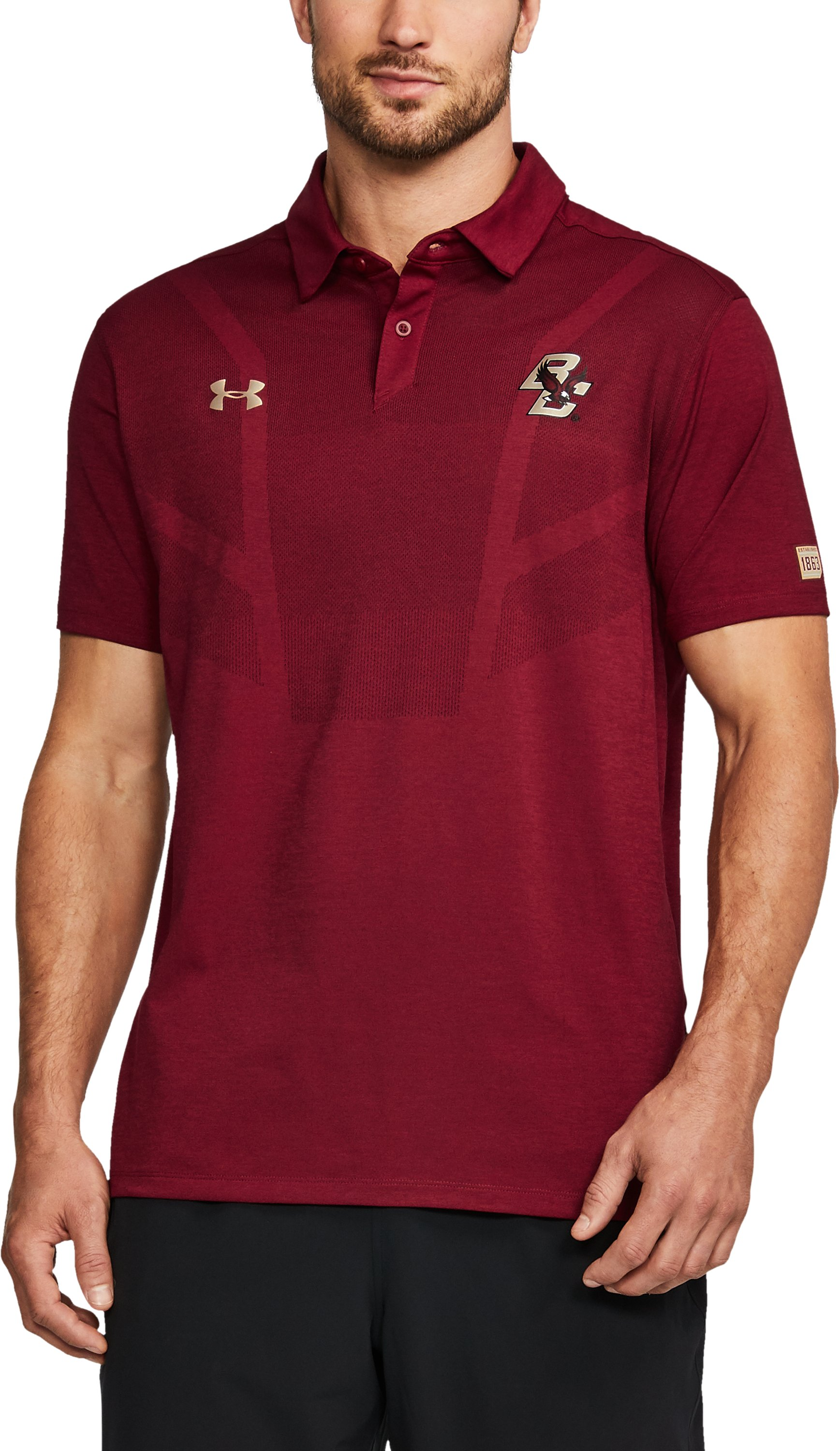 Men's Boston College UA Tour Polo, Maroon