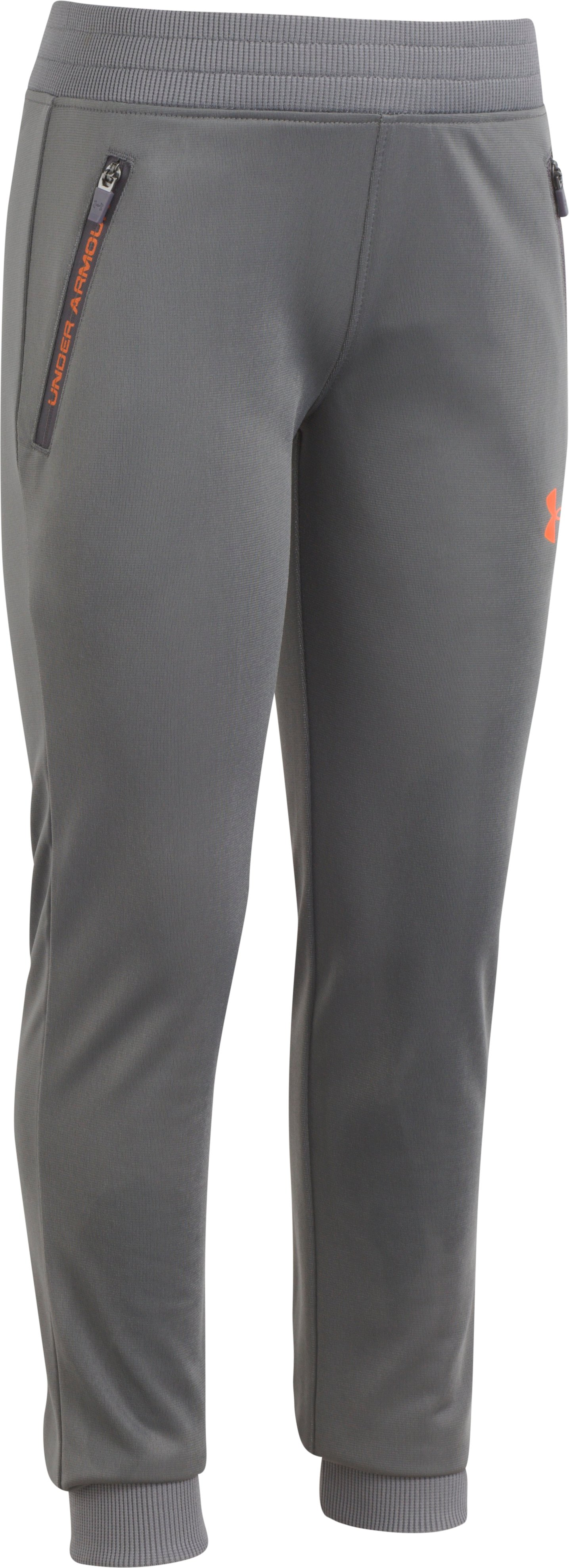 Boys' Pre-School UA Pennant 2.0 Tapered Pants, Graphite, zoomed