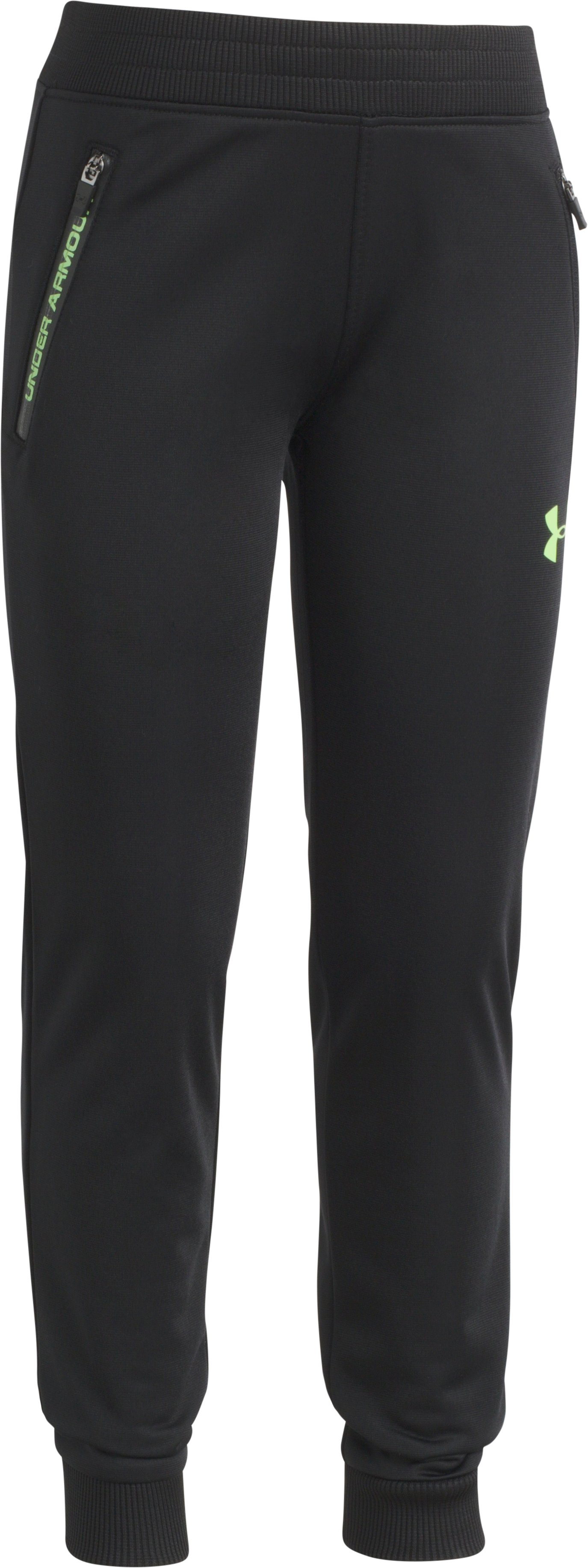 Boys' Toddler UA Pennant 2.0 Tapered Pants, Black , Laydown