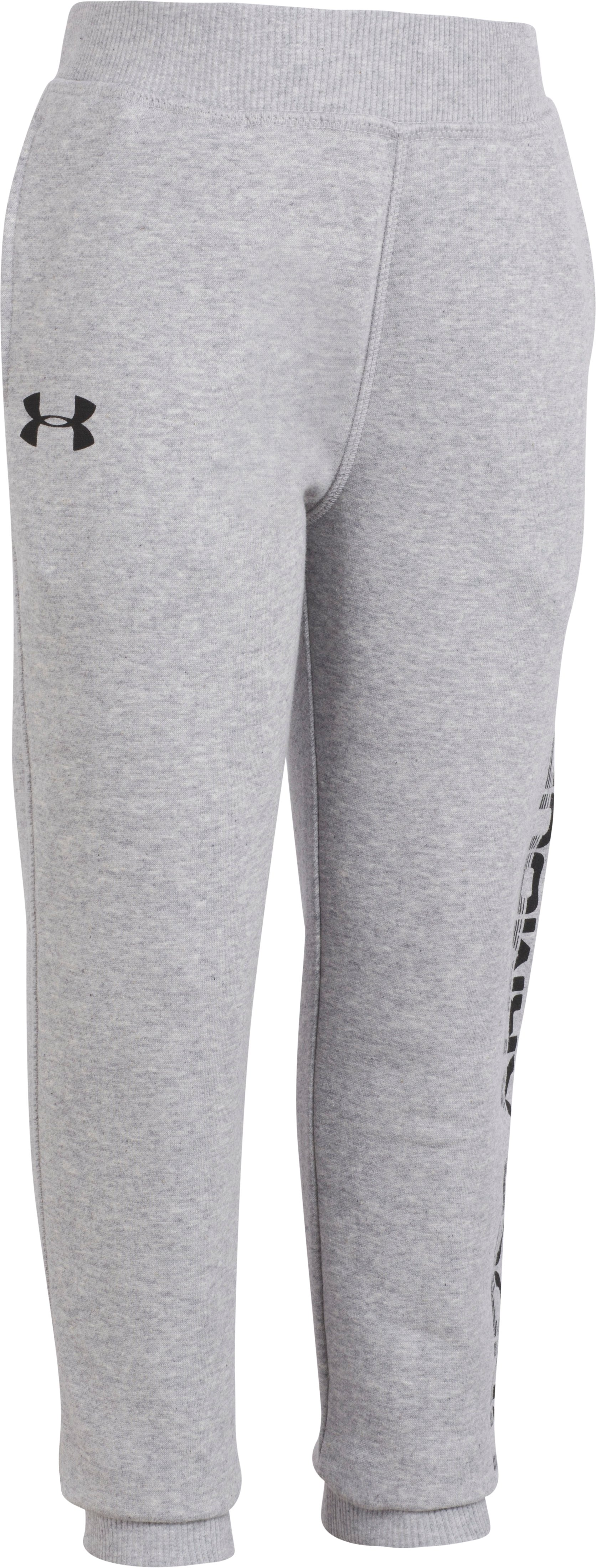 Boys' Pre-School UA Threadborne Joggers, True Gray Heather, Laydown