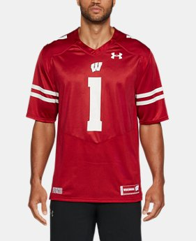 Men's Wisconsin Replica Jersey FREE U.S. SHIPPING 1  Color Available $71.99