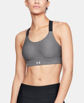 New Arrival Women's UA Vanish High Heather Sports Bra  1  Color Available $60
