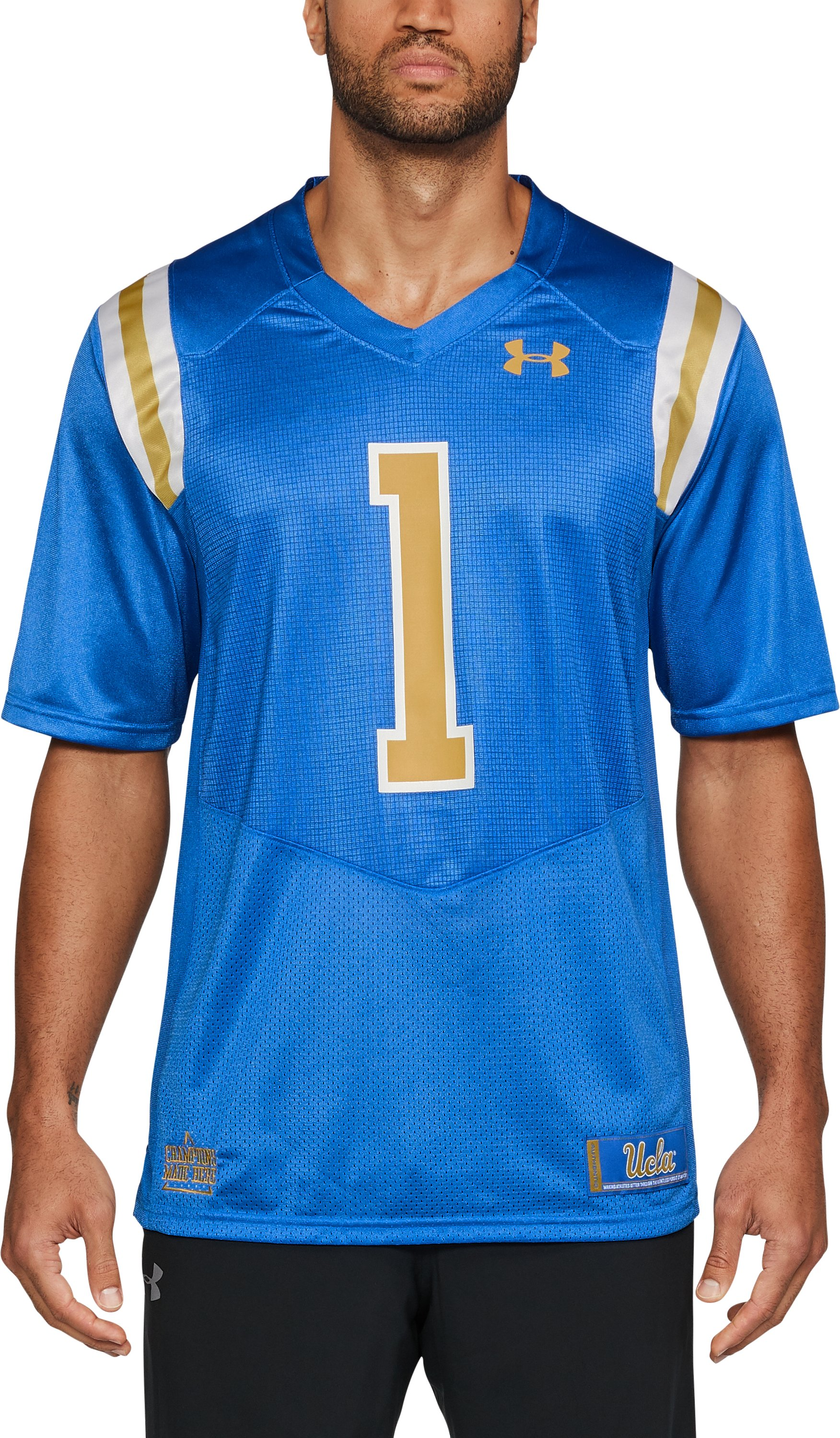 Men's UCLA Replica Home Jersey, POWDERKEG BLUE