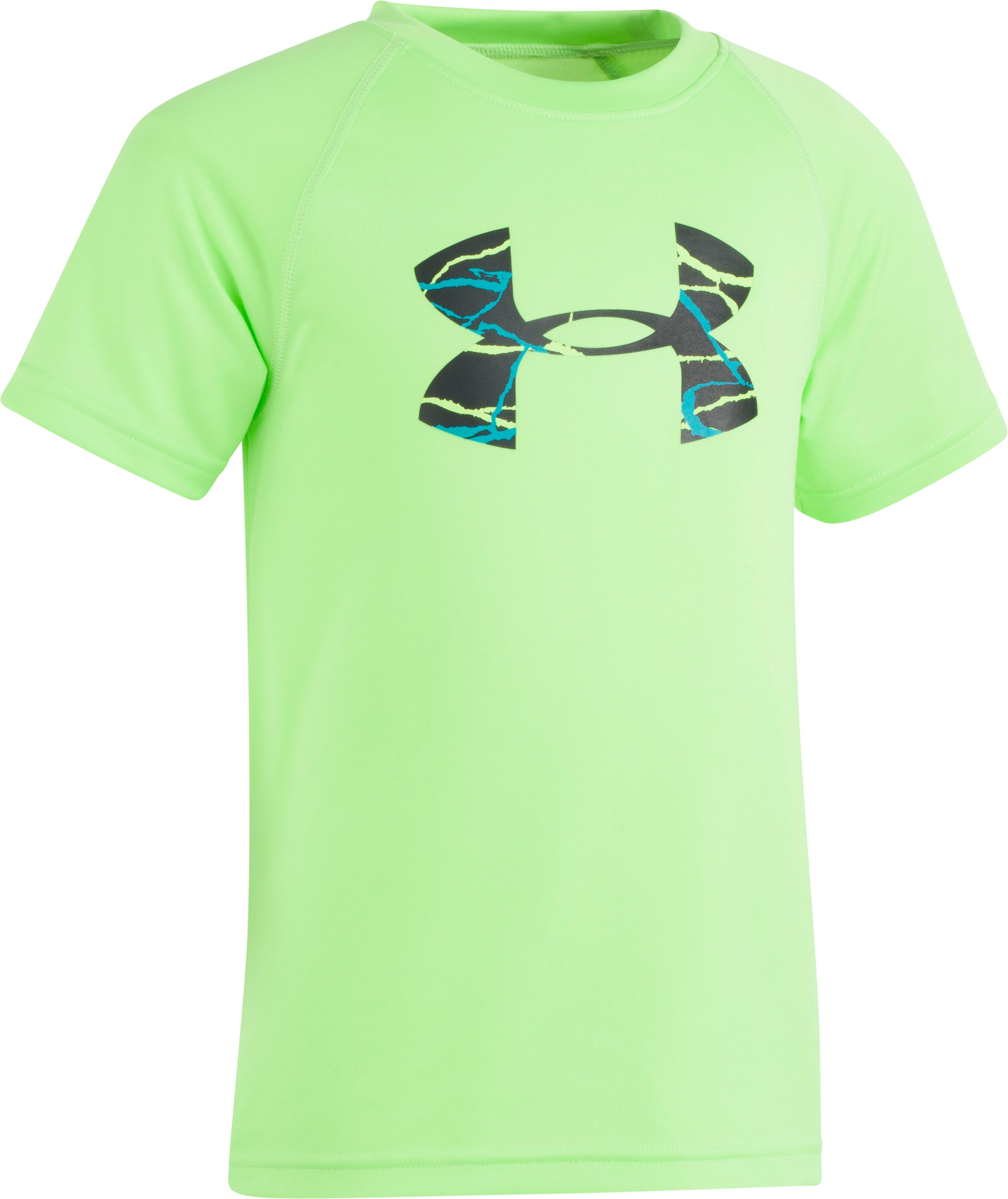 Boys' Pre-School UA Voltage Big Logo T-Shirt, Quirky Lime, Laydown