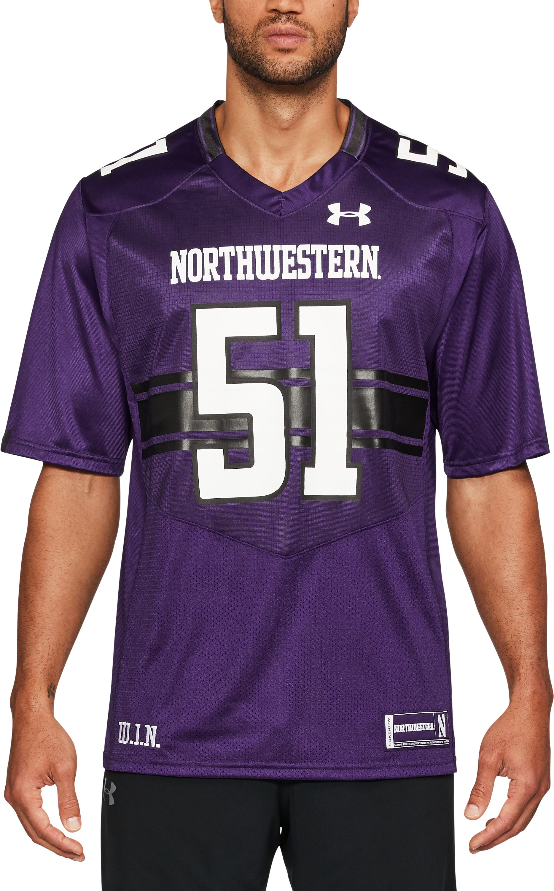 Men's Northwestern Replica Jersey, Purple,