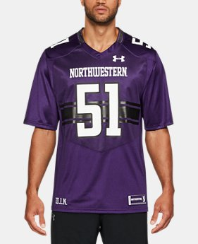 New Arrival Men's Northwestern Replica Jersey  1 Color $94.99