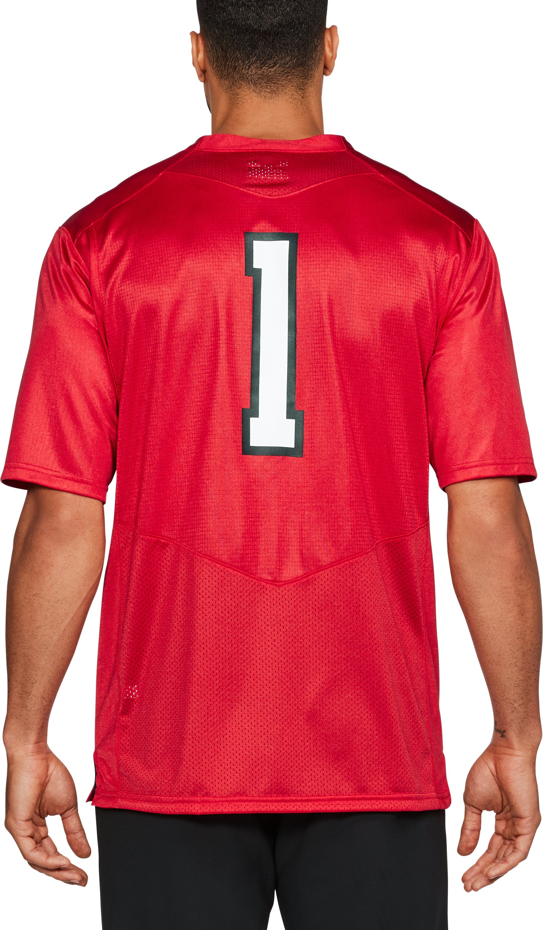 Men's Texas Tech Replica Jersey, Red, undefined