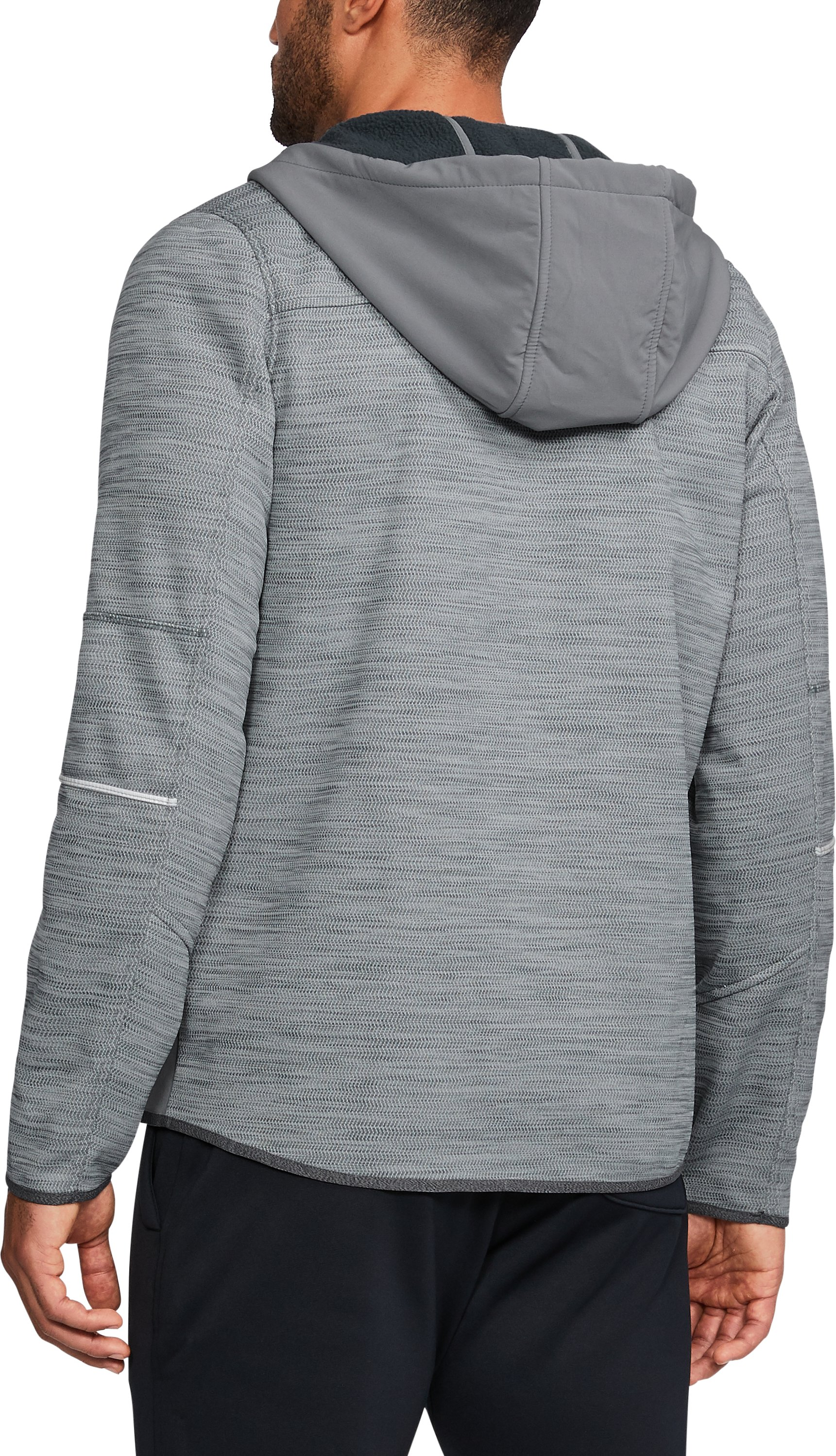 Men's Wisconsin UA Swacket, Graphite,