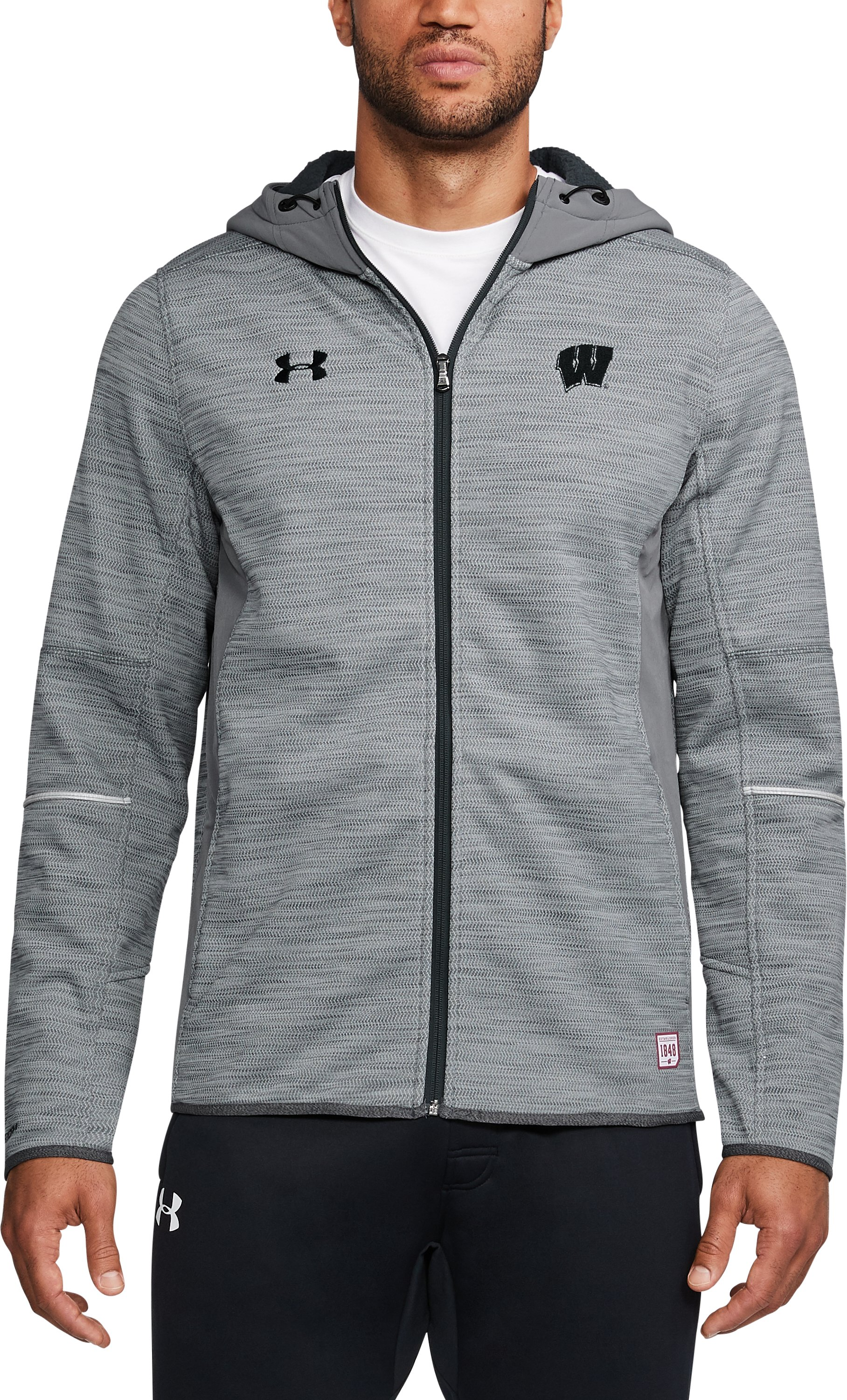 Men's Wisconsin UA Swacket, Graphite