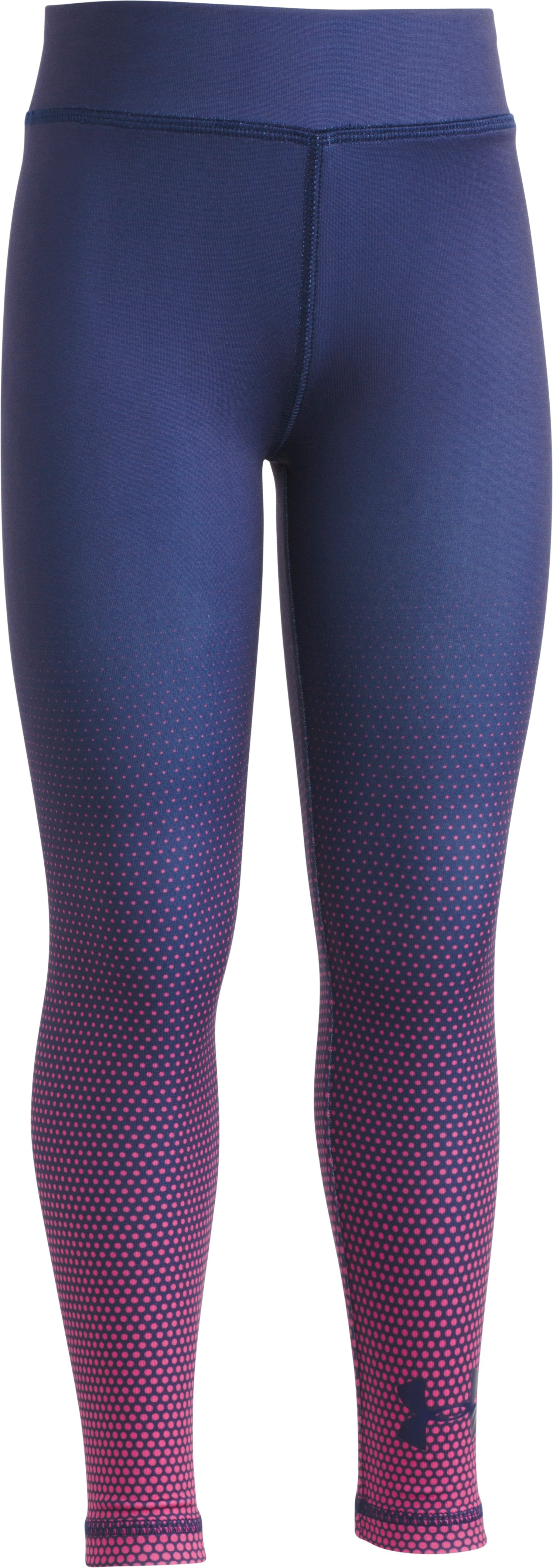 Girls' Toddler UA Fast Track Leggings, Midnight Navy, zoomed