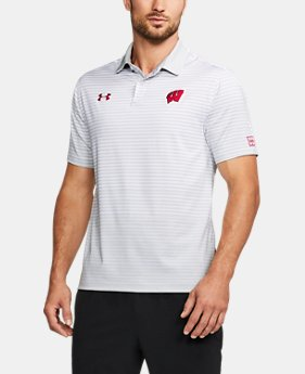 Men's Wisconsin Trajectory Polo LIMITED TIME: FREE U.S. SHIPPING 1  Color Available $63.99