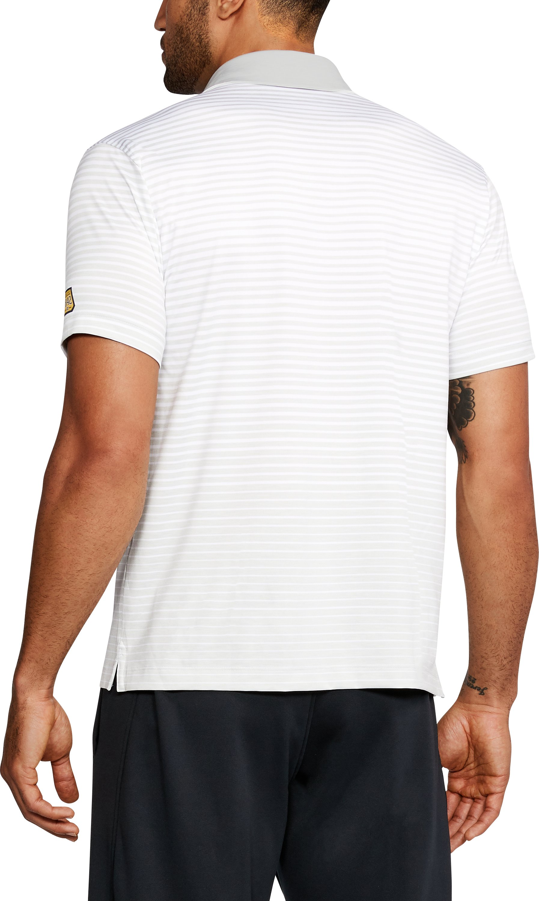 Men's Notre Dame Trajectory Polo, White,