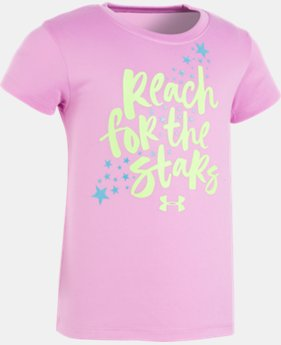 Girls' Pre-School UA Reach For The Stars Short Sleeve  1 Color $13.99