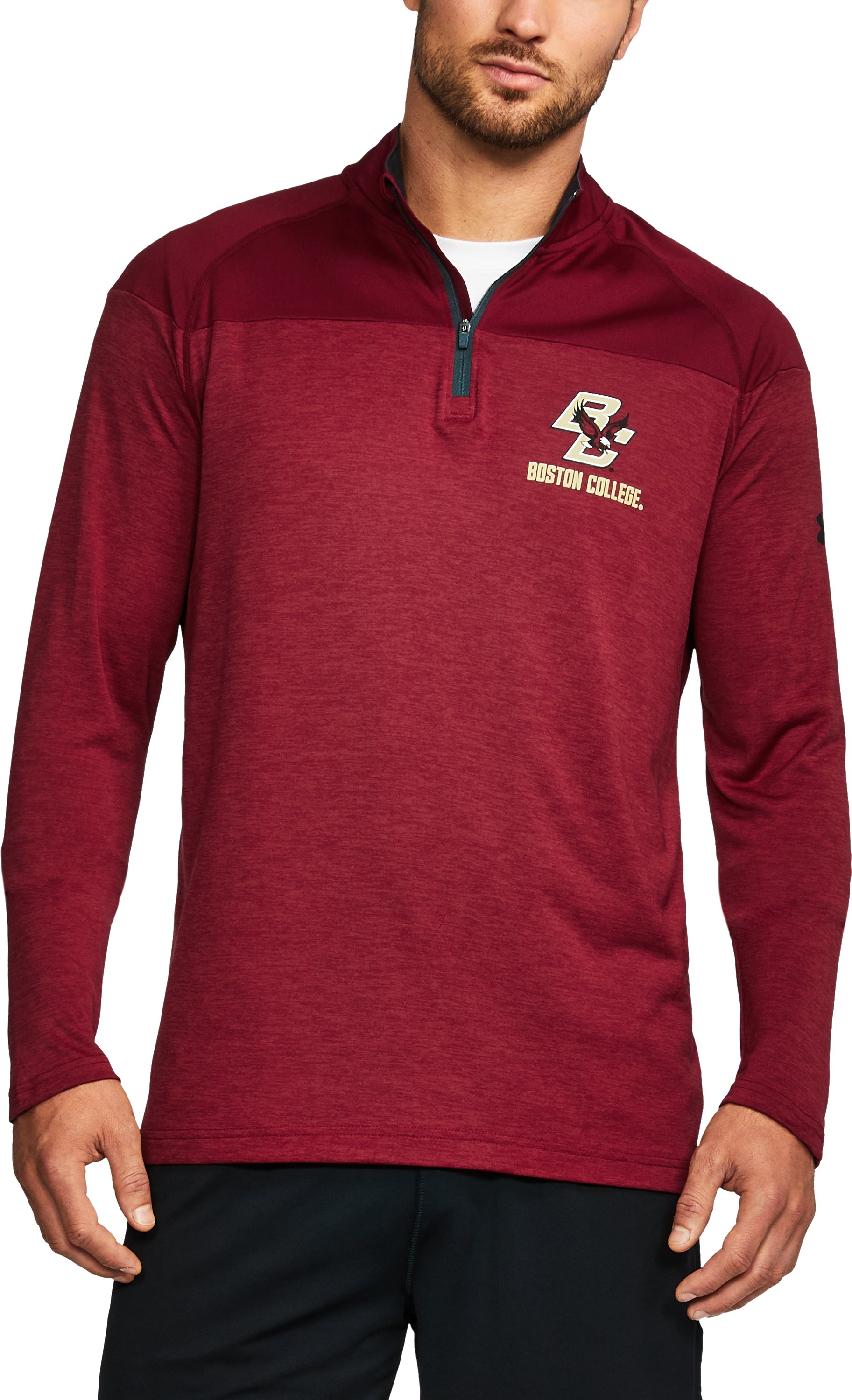 Men's Boston College Printed ¼ Zip, Cardinal, undefined