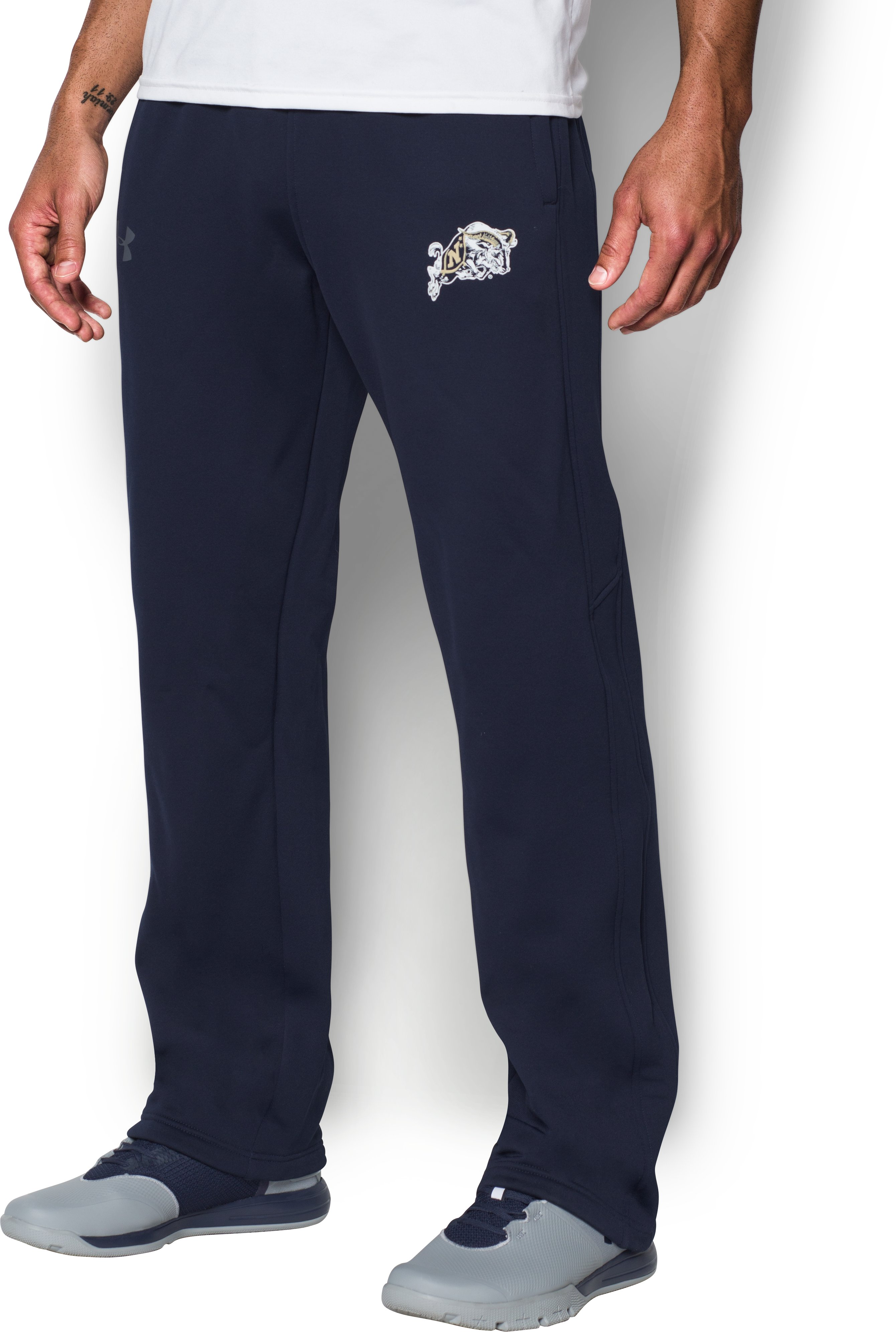 Men's Naval Academy Armour® Fleece Pants, Midnight Navy