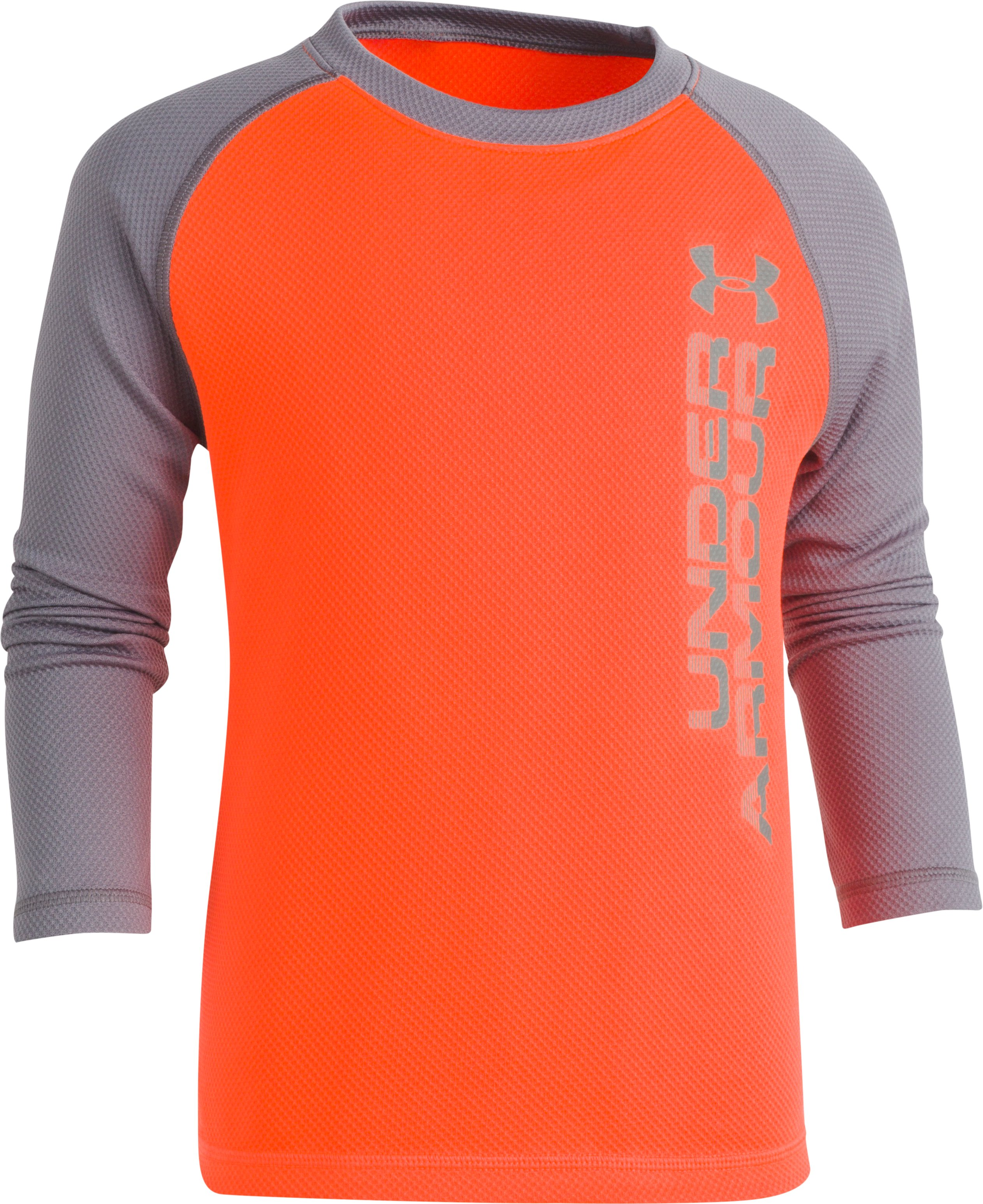Boys' Pre-School UA Vertical Wordmark Reaper, MAGMA ORANGE, Laydown