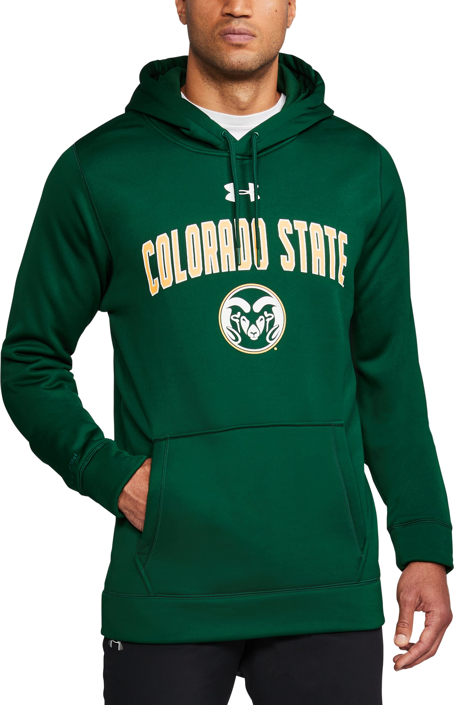 Men's Colorado State Armour Fleece® Hoodie, Forest Green