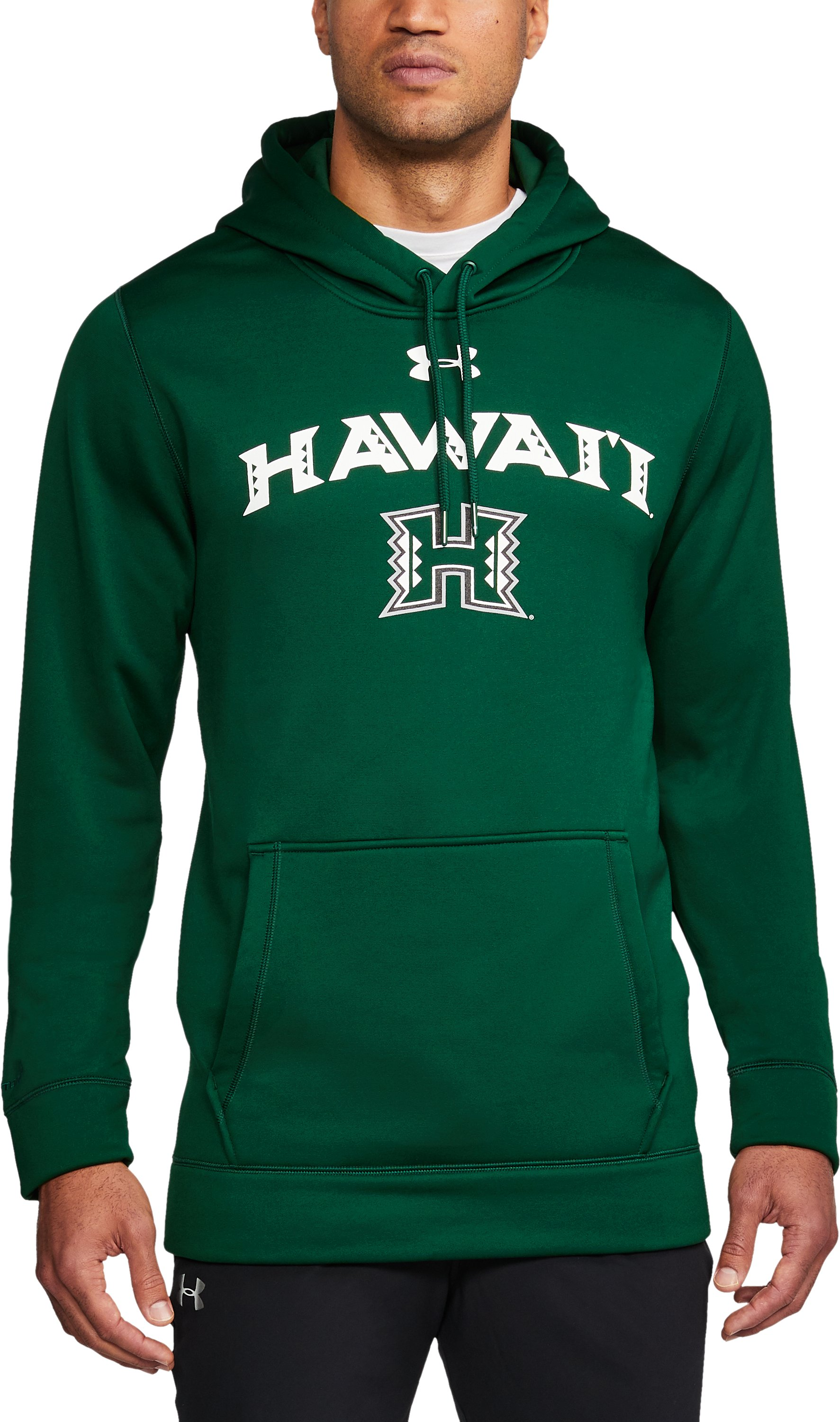 Men's Hawai'i Armour Fleece® Hoodie, Forest Green