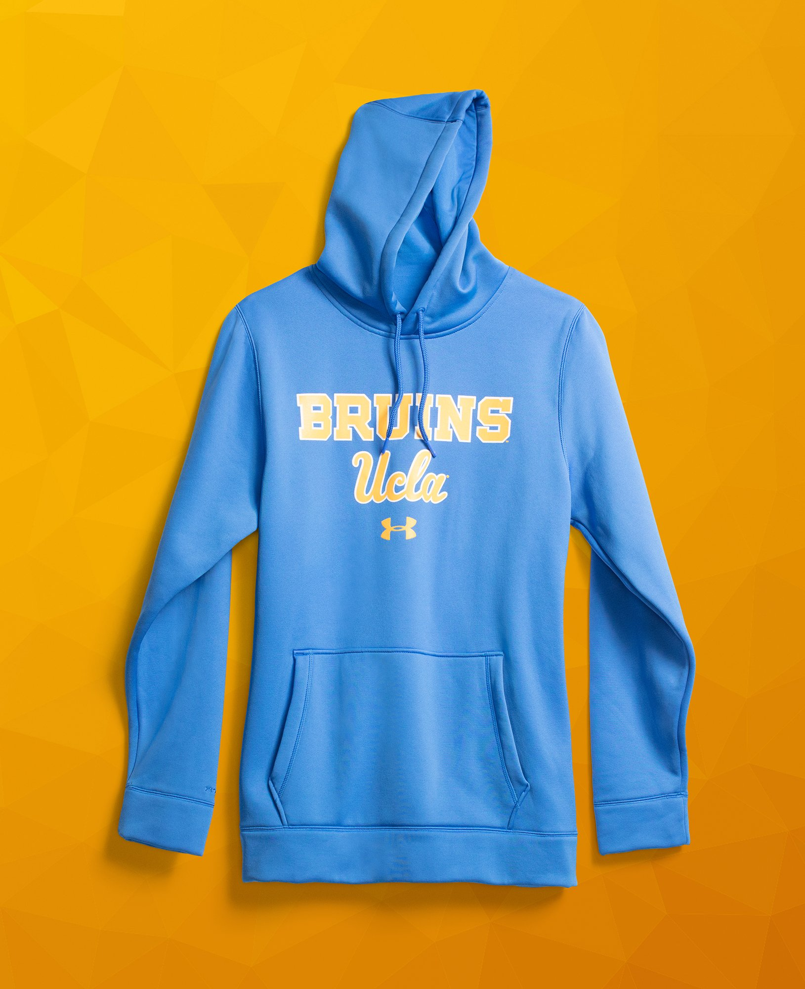Women's UCLA UA Tri-Blend Hoodie, POWDERKEG BLUE,