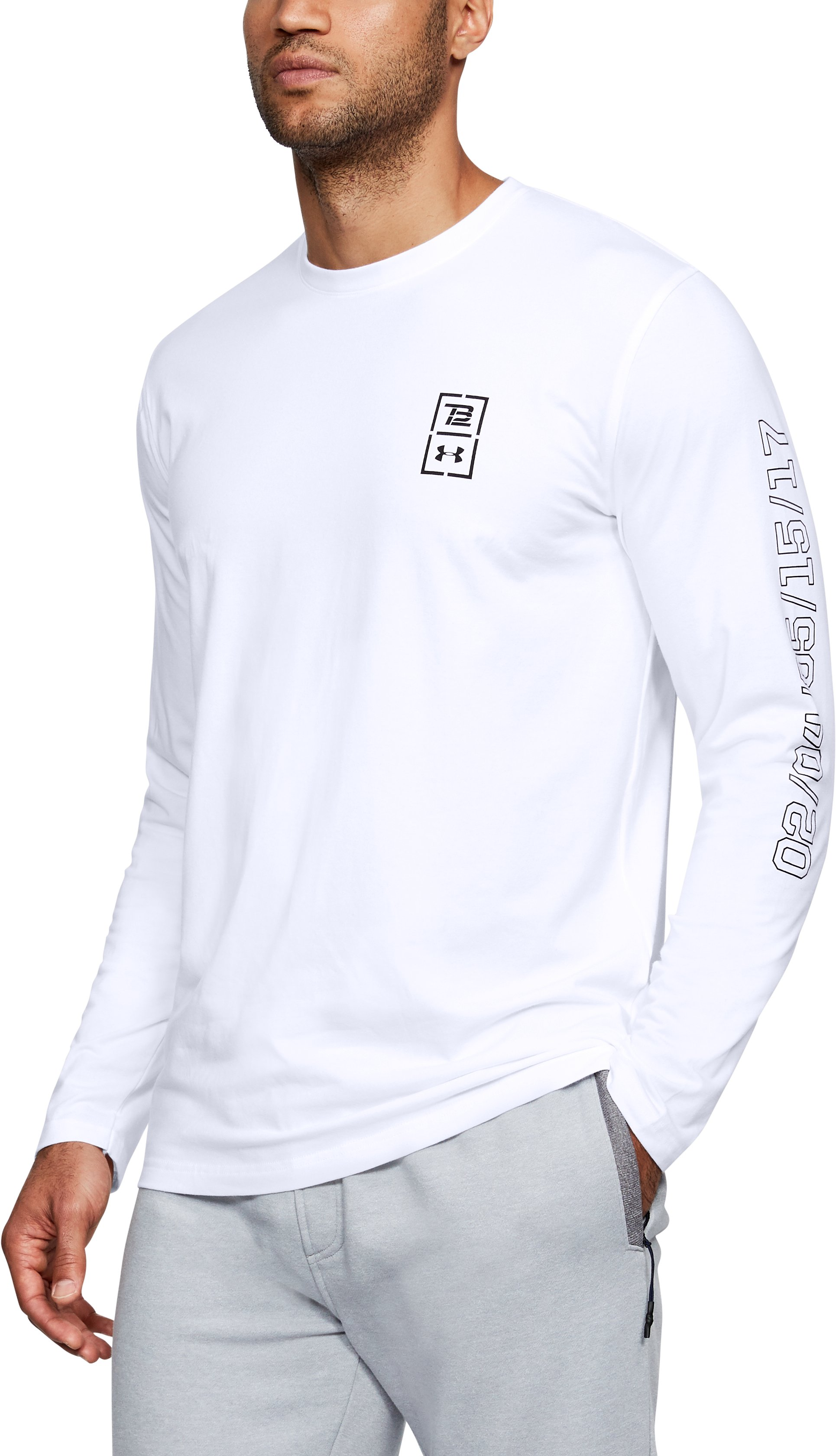Men's TB12 UA LE Long Sleeve T-Shirt, White