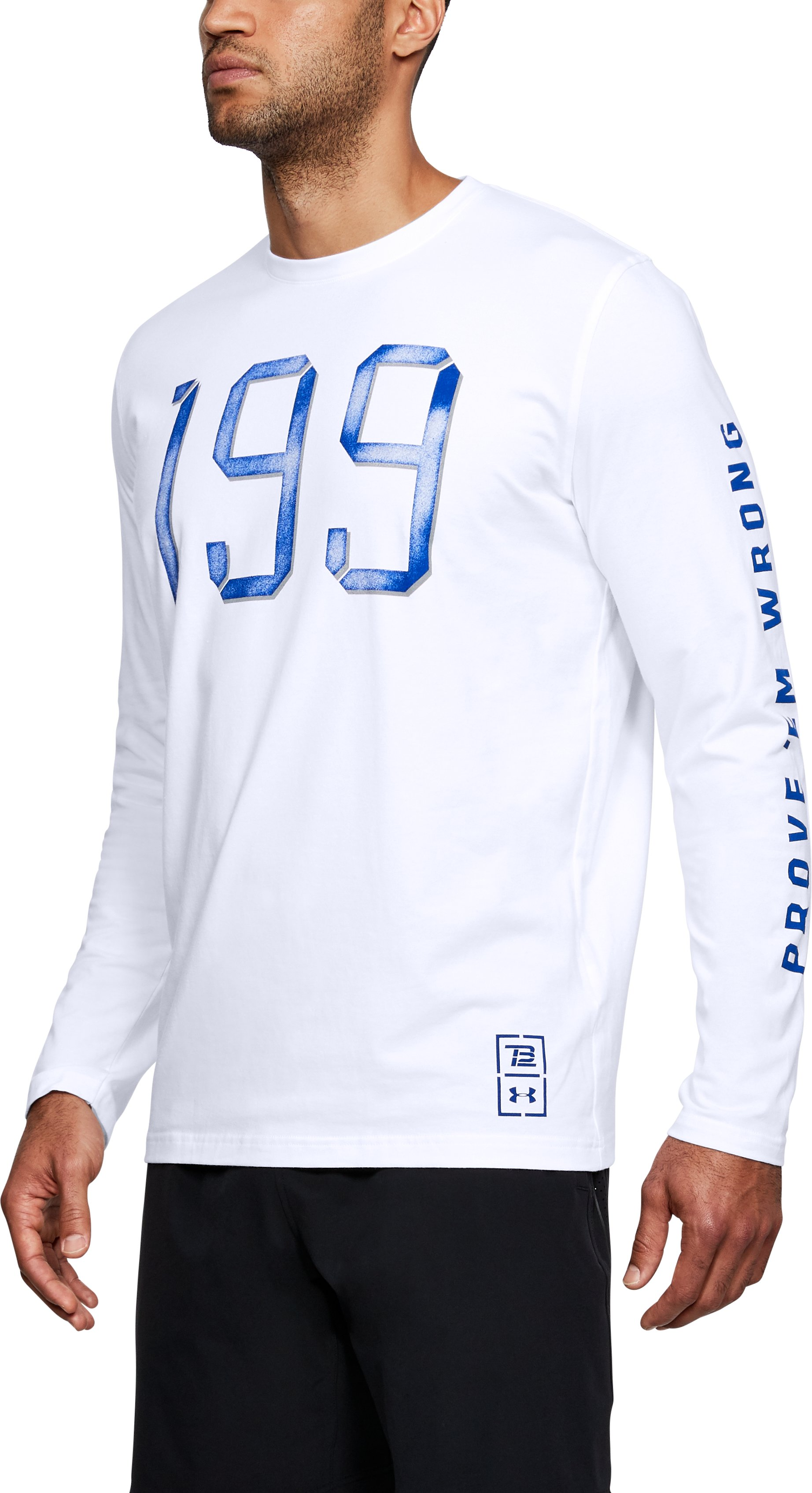 Men's TB12 UA 199 Long Sleeve T-Shirt, White