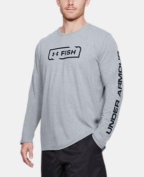 New Arrival Men's UA Fish Icon Long Sleeve  1 Color $30