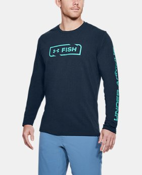 Men's UA Fish Icon Long Sleeve  1  Color $30
