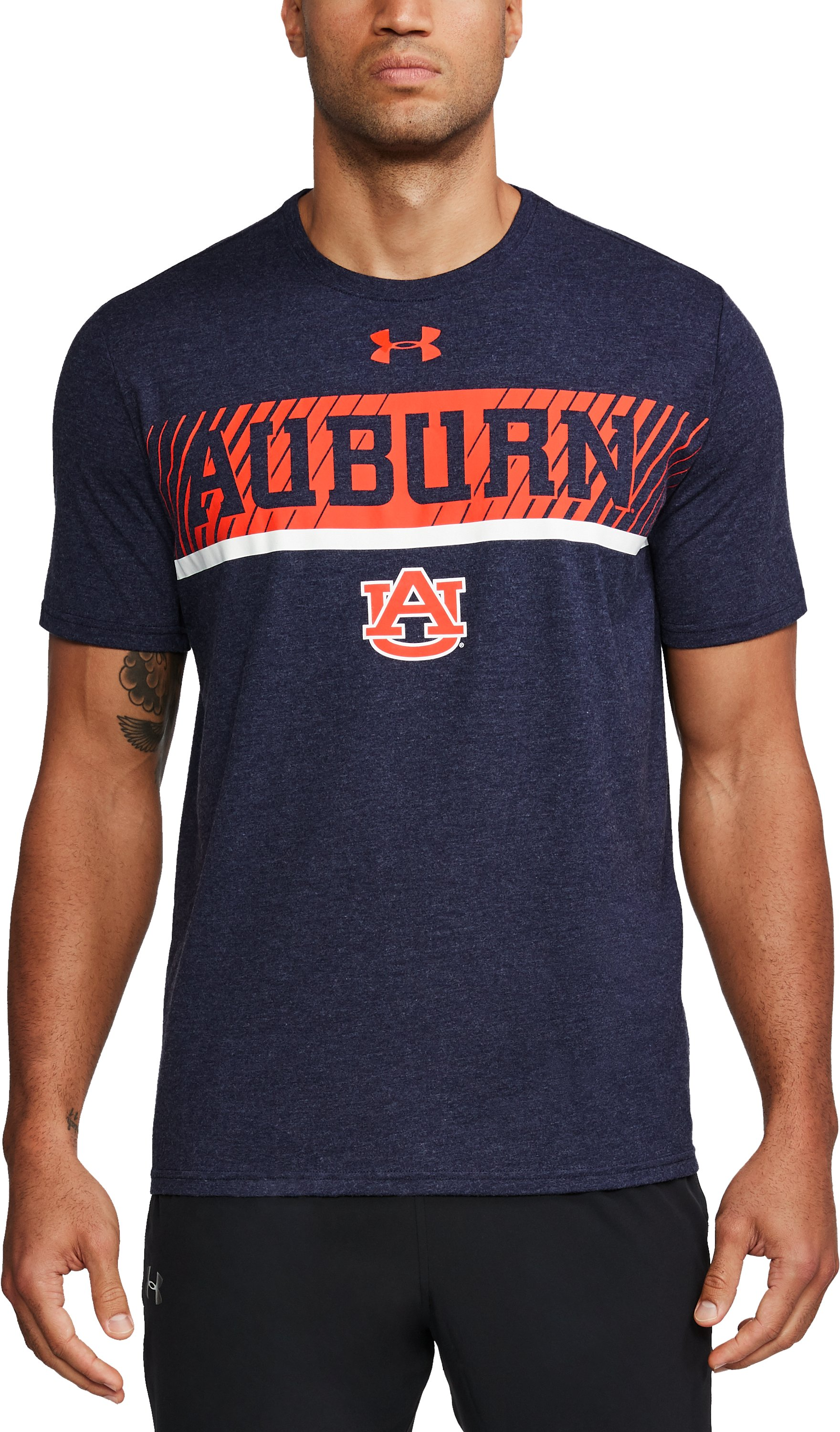 Men's Auburn Charged Cotton® T-Shirt, Midnight Navy, undefined