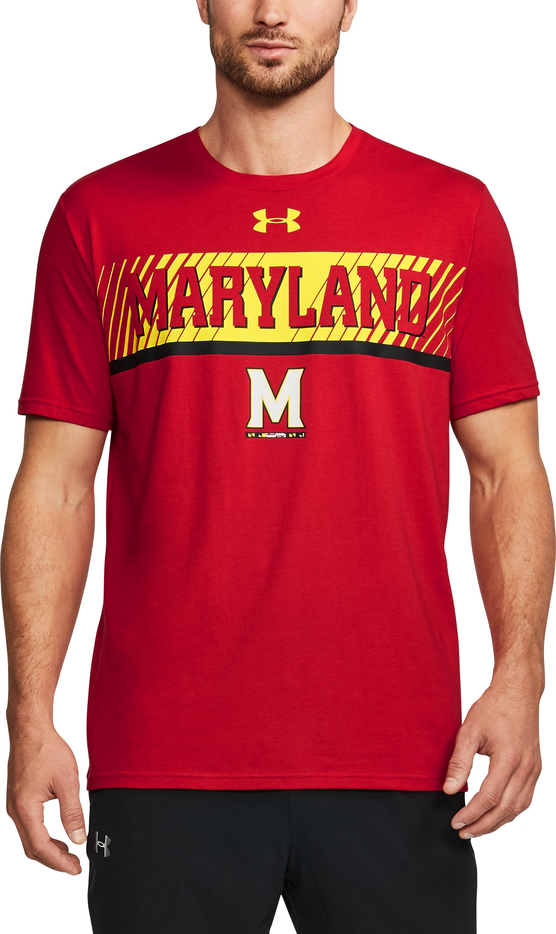 mens cotton t-shirt Men's Maryland Charged Cotton® T-Shirt Very stylish shirt!...My son loves to wear this shirt!...Great Product!