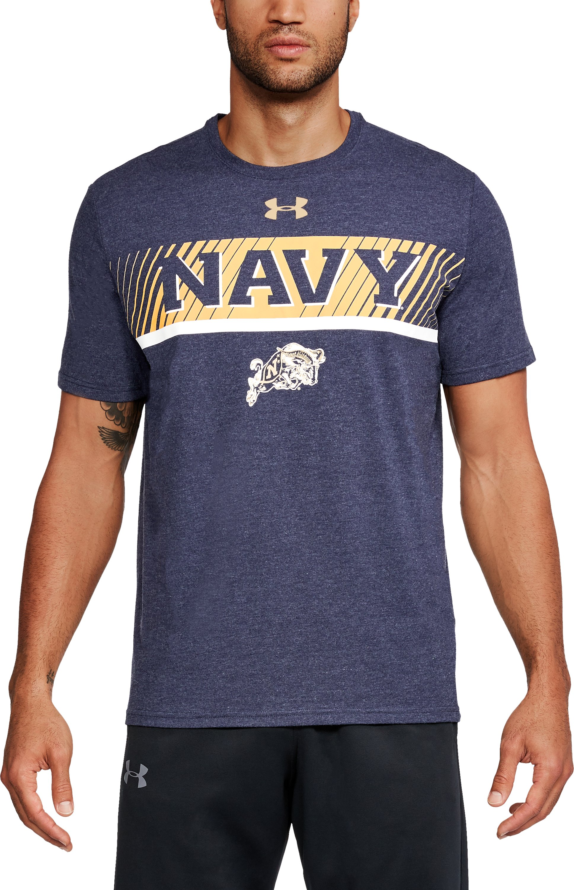 Men's Naval Academy Charged Cotton® T-Shirt, Midnight Navy,