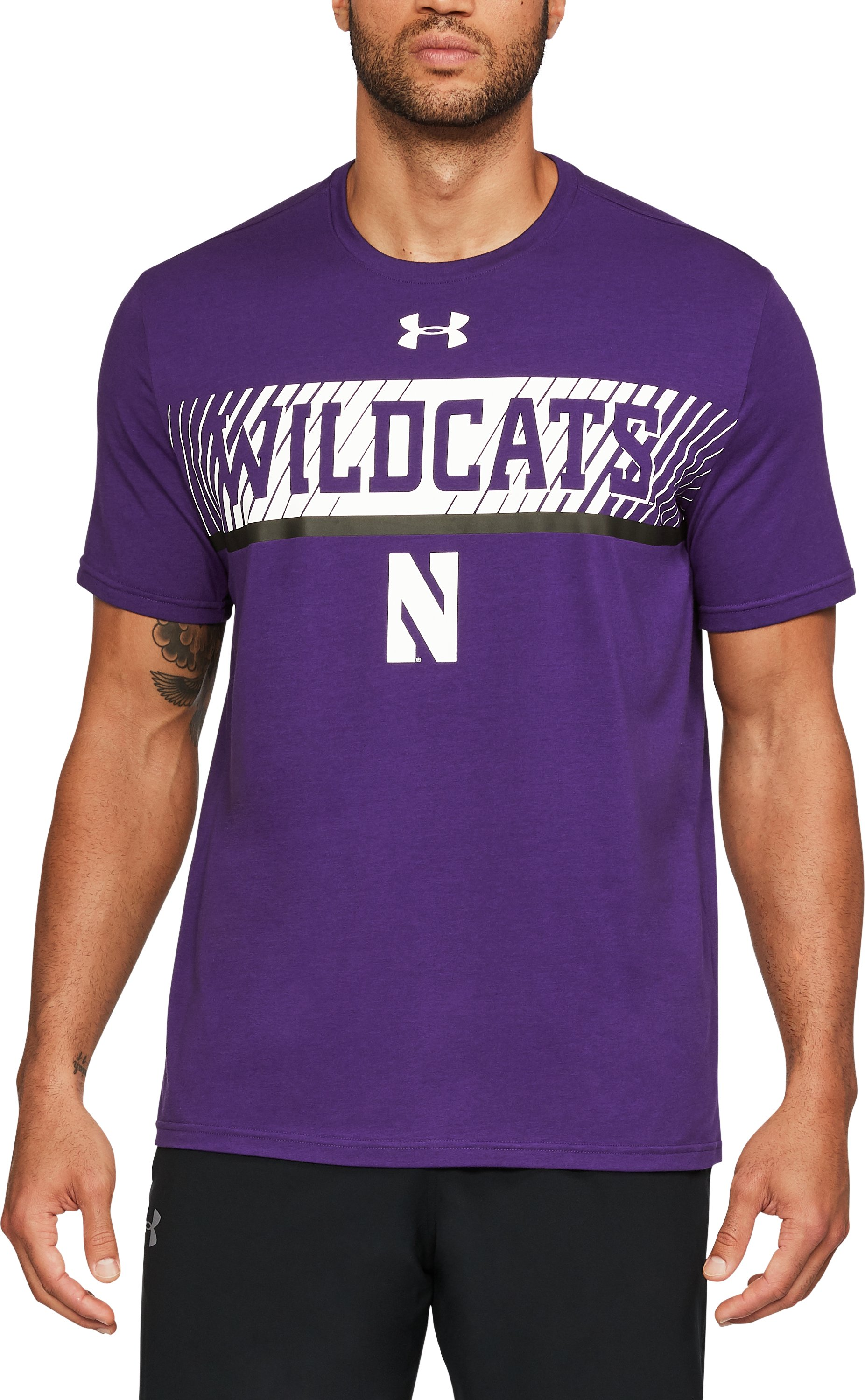 Men's Northwestern Charged Cotton® T-Shirt, Purple,