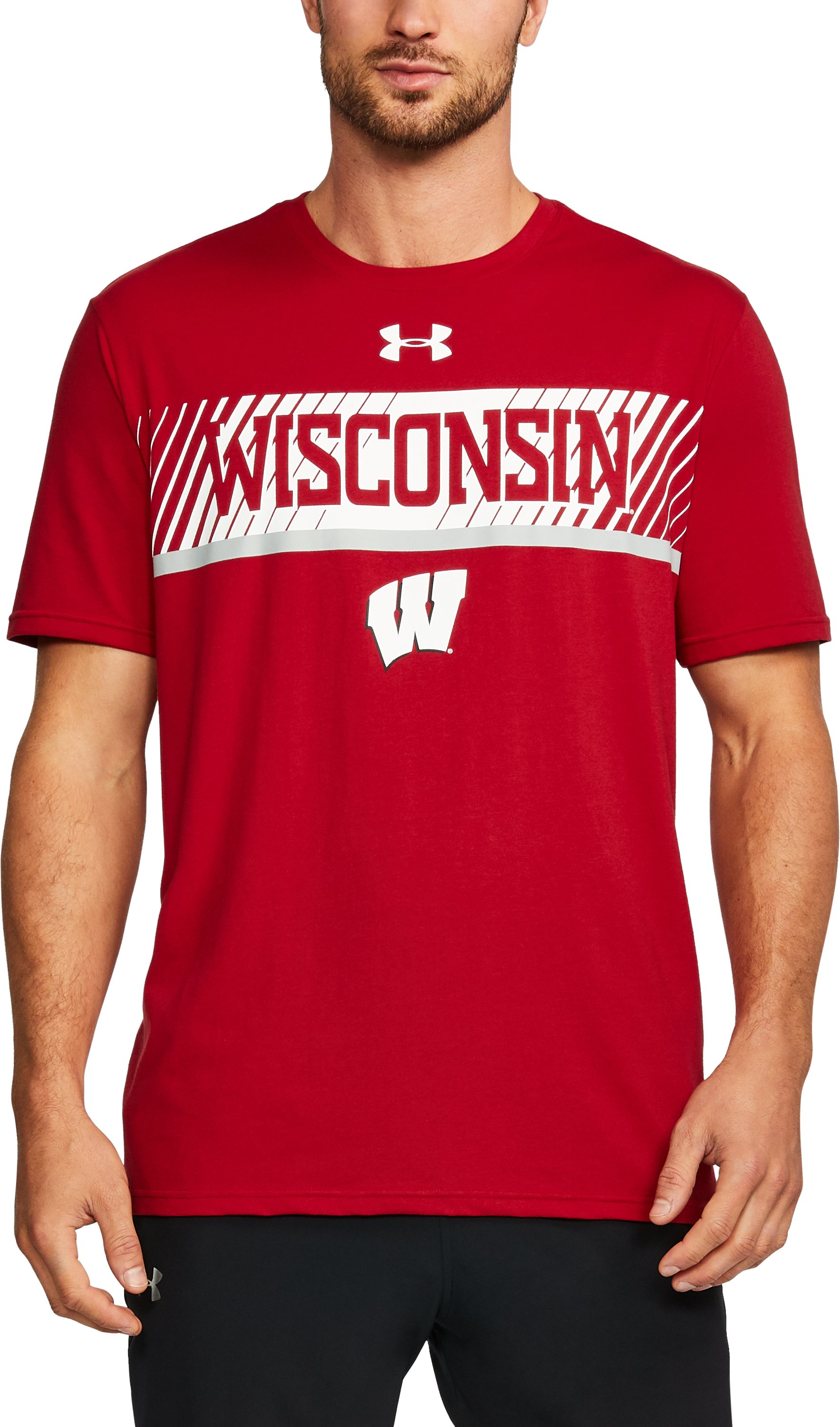 Men's Wisconsin Charged Cotton® T-Shirt, Flawless