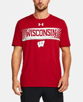 New Arrival Men's Wisconsin Charged Cotton® T-Shirt  1 Color $34.99