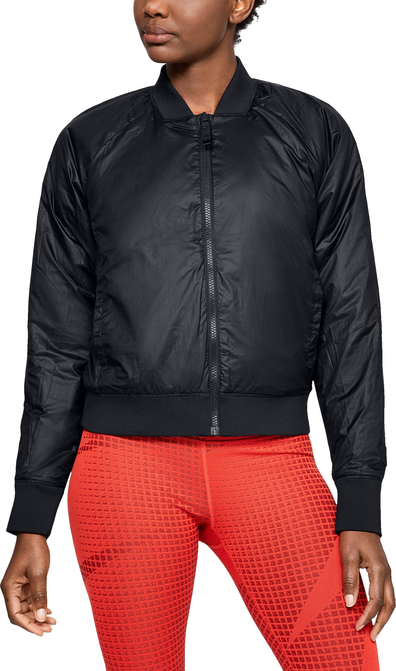 Women's ColdGear® Reactor Bomber Jacket, Black ,