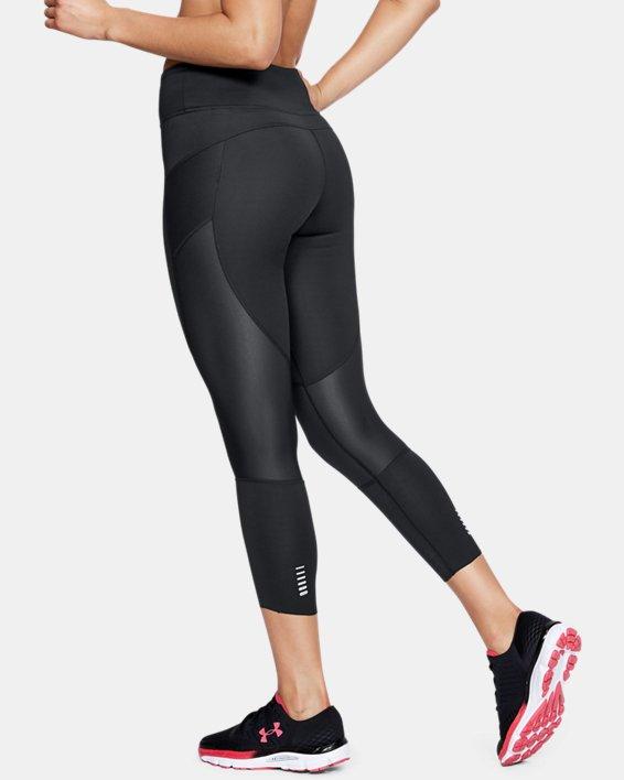 Corsaire UA Speedpocket Run Crop pour femme, Black, pdpMainDesktop image number 2