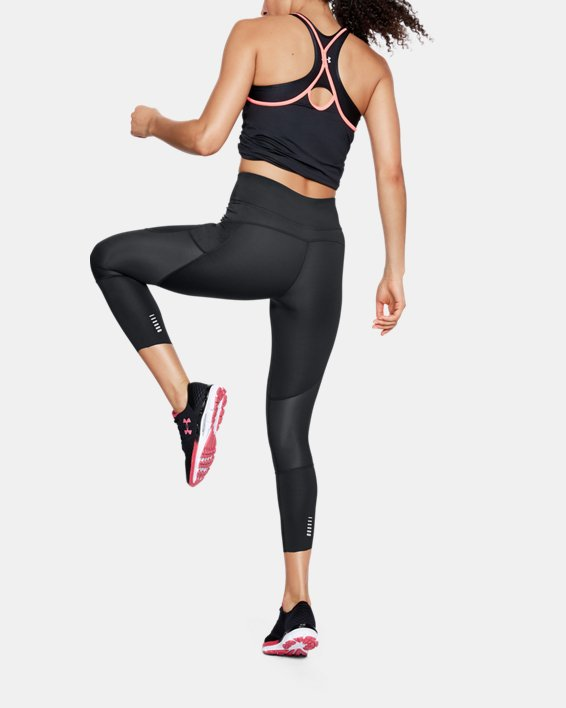 Corsaire UA Speedpocket Run Crop pour femme, Black, pdpMainDesktop image number 1