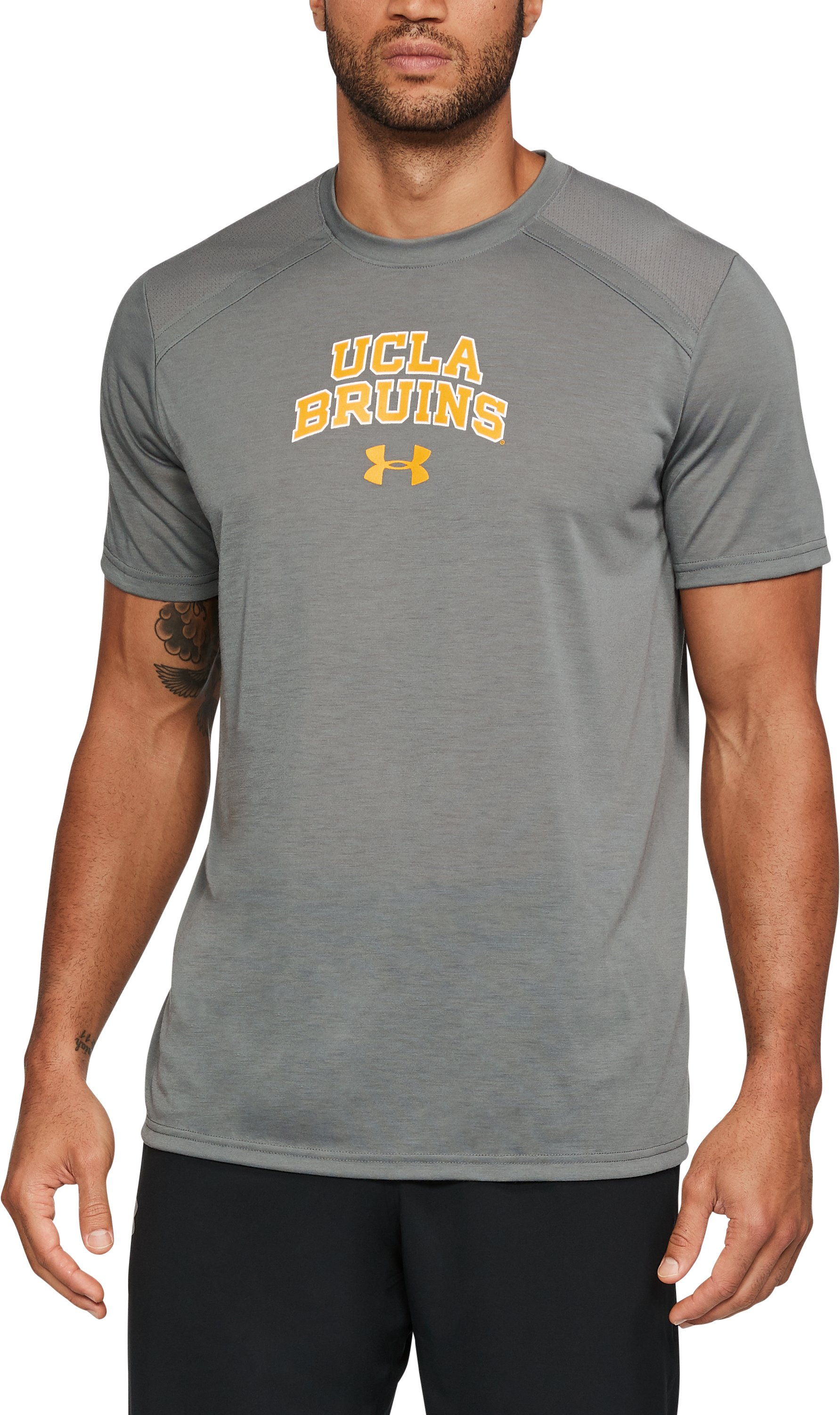 Men's UCLA UA Threadborne™ Vented Shirt, Graphite, undefined
