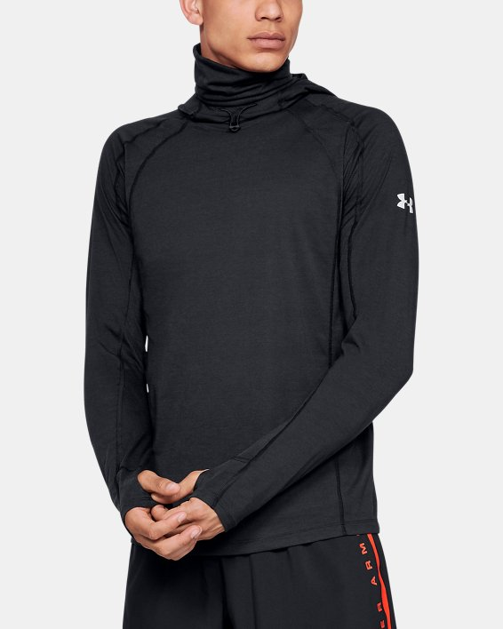 Men's UA Microthread Swyft Facemask Hoodie, Black, pdpMainDesktop image number 0