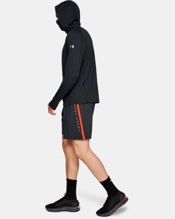 Men's UA Microthread Swyft Facemask Hoodie, Black, pdpMainDesktop image number 1