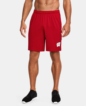 New Arrival Men's Wisconsin UA Raid Training Shorts  1 Color $39.99