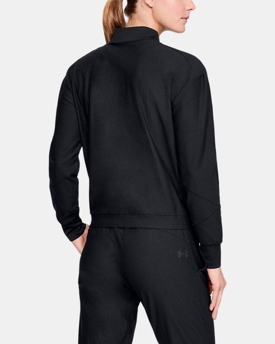 Women's UA RECOVER™ Balance Track Jacket, Black, pdpMainDesktop image number 2