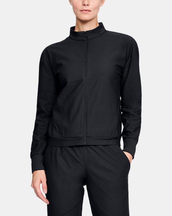 Women's UA RECOVER™ Balance Track Jacket, Black, pdpMainDesktop image number 0