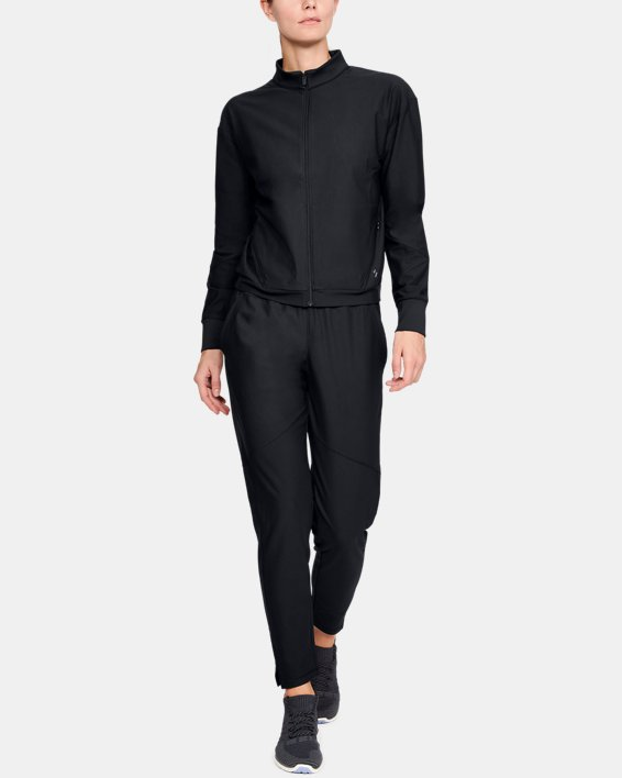 Women's UA RECOVER™ Balance Track Jacket, Black, pdpMainDesktop image number 1